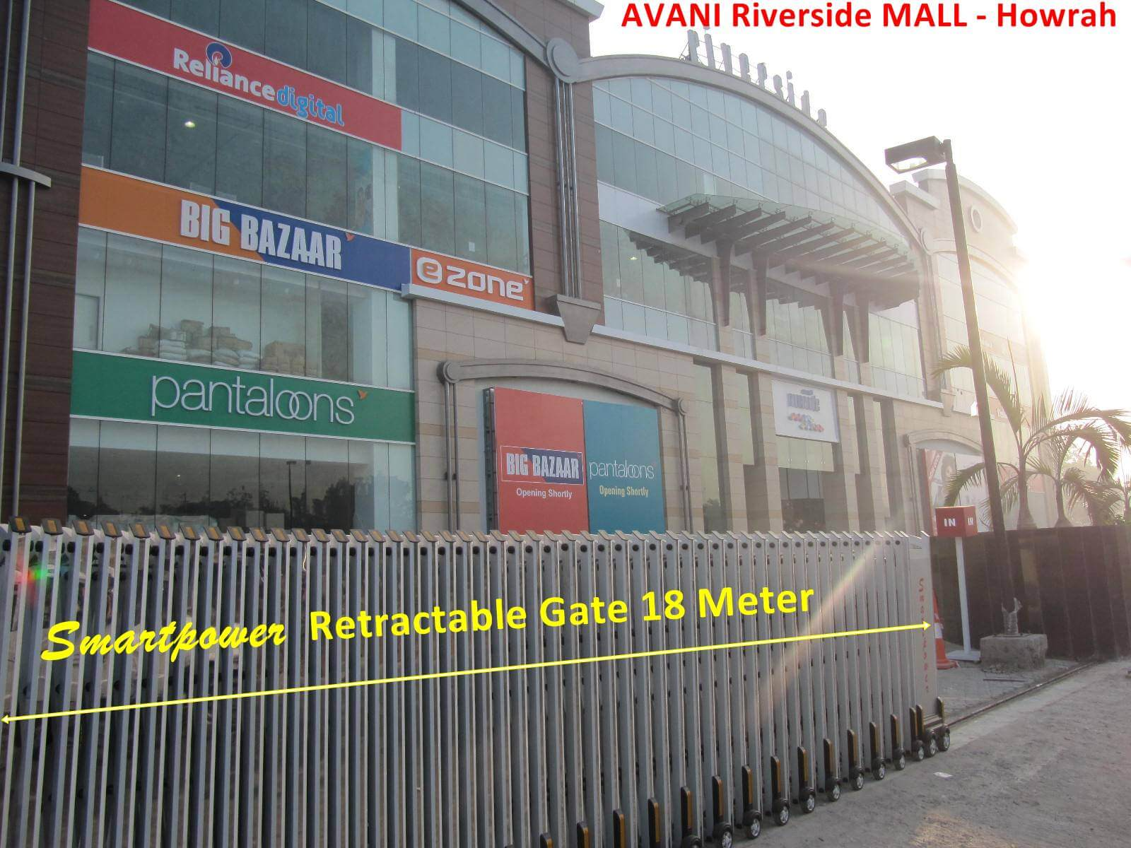 Retractable Gates Telescopic Gate Motorized Gate